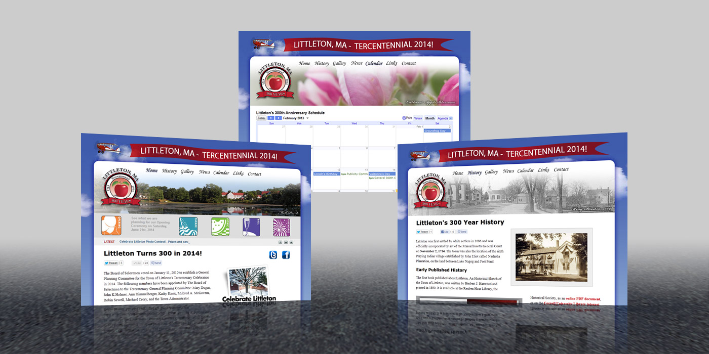 Littleton 300th Web Site Design