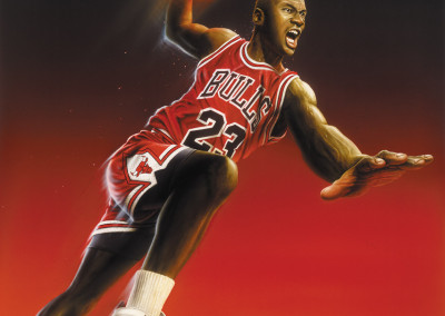 Michael Jordan Toy Package Illustration