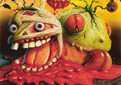 Killer Tomatoes Toy Package Illustration