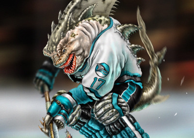 San Jose Sharks Character Illustration