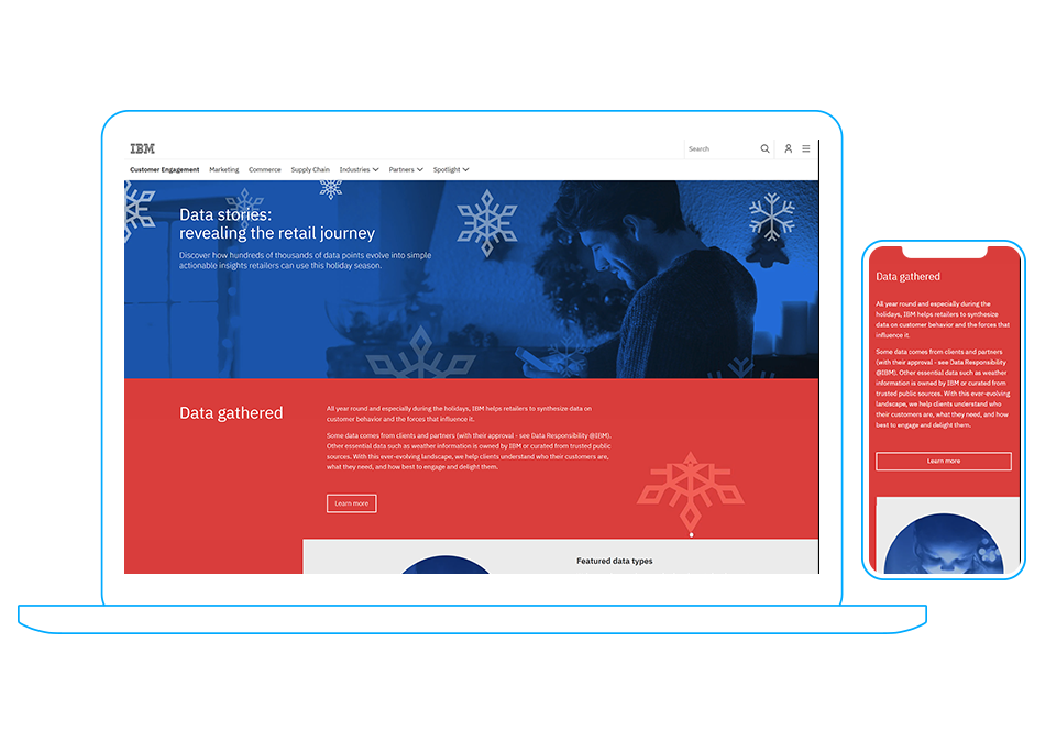 IBM 2018 Holiday Visualization Pages