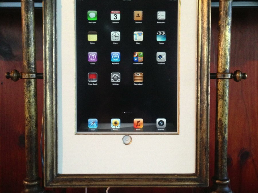 Upcycling An Antique Mirror Into a Steampunk iPad Frame